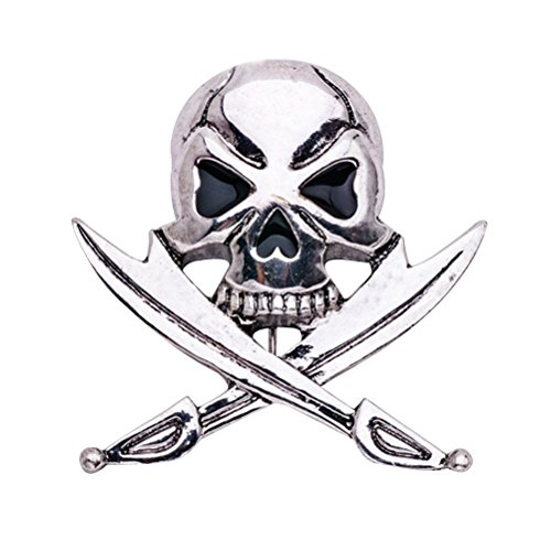 Gothic Punk Skull Bones Broche Pin Party Esqueleto Breastpin para...