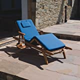 Amalfi Trueshopping jardín/Patio madera Reclinable tumbona silla ajustable con cuidado fácil Hangerworld Stoffkontor cojín
