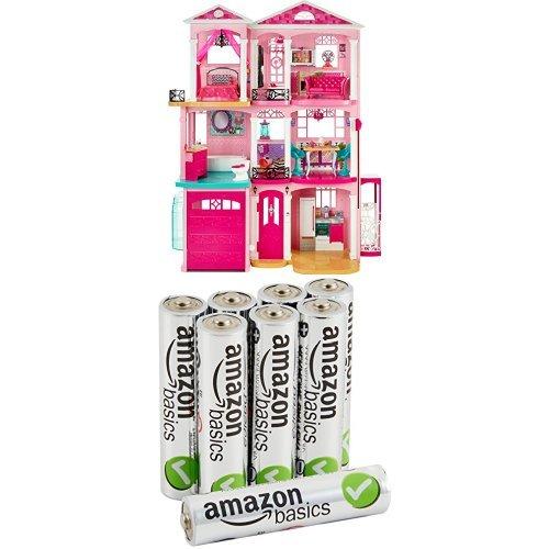 Barbie - casa dei sogni con 8 pile alcaline amazonbasics
