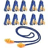 Monkeybrother Weich wiederverwendbar Silikon Gehörschutzstöpsel Ohrstöpsel mit Schnur 10 Stück (Lärm senkung 29DB)