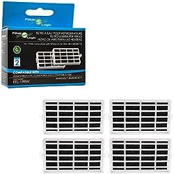 FilterLogic | Lot de 4 - Filtre antibactérien pour réfrigérateur Whirlpool, Indesit, IKEA, KitchenAid, Hotpoint - Traitement de l'air - Compatible avec Microban ANT001, ANT-001, ANTF-MIC 481248048172