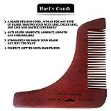 Set di set di strumenti per la formatura dei baffi in legno di Hari - Leggero e flessibile - Un taglia adatta a tutti - Taglio a curva, taglio a gradini, scollatura e pinzetto per barba