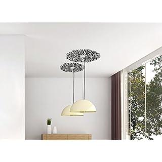 Grandora W118 Wandtattoo modernes Ornament für Deckenlampe weiß (BxH) 21 x 21 cm