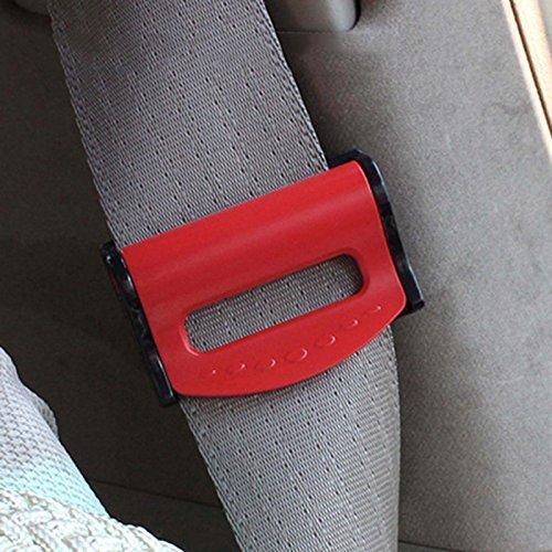 Sicher Auto-Sicherheitsgurt befestigt Träger verstellbar Verschlussschnalle - Rot