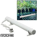 Voche® Elektrische Rohr-Gewächshaus-Heizung mit Kabel, Stecker, Clips und Befestigungen, 61 cm