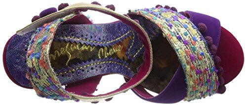 Irregular Choice Shoop, Sandales Bride cheville femme Purple (Purple/Gold)
