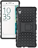 Micomy Kickstand Spider Hard Dual Rugged Armor Hybrid Bumper Back Case Cover For Vivo Y51L -Black