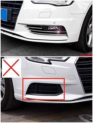 Exterieur Nebelscheinwerfer Dekor Edelstahl 6 Stück Für Audi A3 Limousine 8V 2012-2016 (Limousine Zubehör)