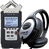 ZOOM H4n PRO Handy Recorder + KEEPDRUM Stereo-Kopfhörer
