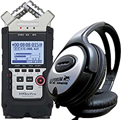 ZOOM H4n PRO Handy Recorder + keepdrum Stereo-Kopfhörer