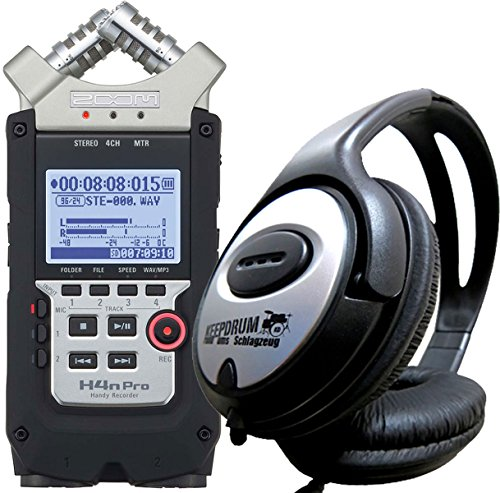 Zoom H4N Pro Handy Recorder KEEPDRUM cuffie stereo
