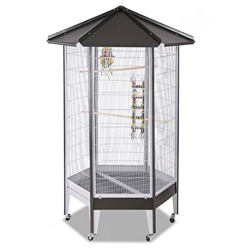Montana Cages Sechseck Voliere, Zimmervoliere, Käfig Villa Redondo - Antik/Platinum