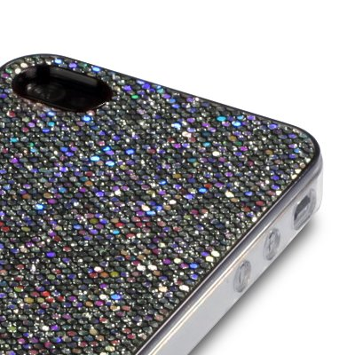 Terrapin Coque diamants pour iPhone 4/iPhone 4S noir