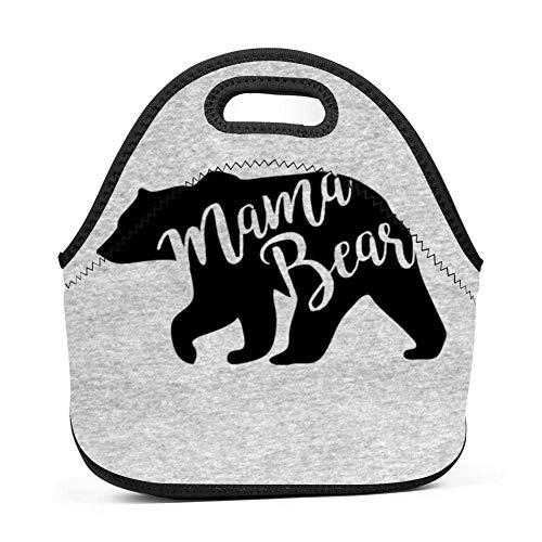Engel Hobo Bag (Dozili Mama Bear Große & dicke Neopren-Lunch-Taschen, isoliert, warm, mit Schultergurt, für Damen, Teenager, Mädchen, Kinder, Erwachsene)