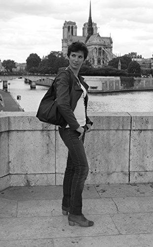 OH MY BAG Borsa pelle donna - Modello Mandalay- Borsa a mano e a spalla TAUPE CHIARO