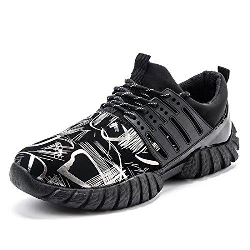 Men's Breathable Mesh Running Shoes Black