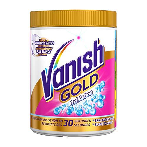 Vanish Gold Oxi Action Weiß Pulver 1,1kg, (1 x 1,1kg), Fleckentferner, Fleckentferner für weiße Wäsche