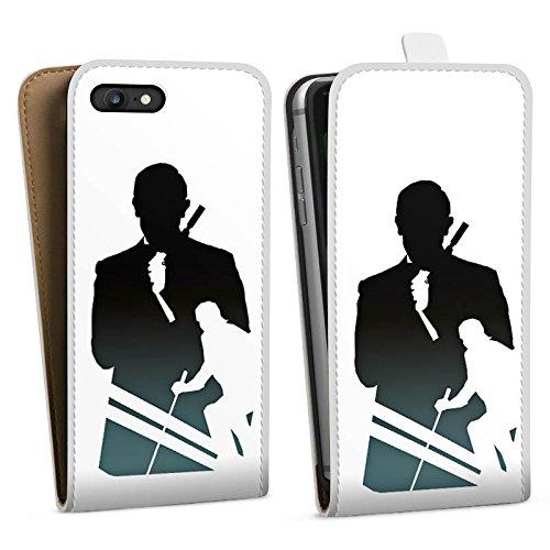 Apple iPhone X Silikon Hülle Case Schutzhülle James Bond Filme Downflip Tasche weiß