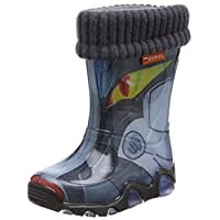 Toughees Unisex-Child Robot Wellies with Warm Sock Boots