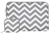MOSISO Tasche Sleeve Hülle für 13-13,3 Zoll MacBook Pro, MacBook Air, Notebook Computer Chevron Stil Canvas Gewebe Laptophülle Schutzhülle Laptoptasche Notebooktasche mit Kleinen Fall, Grau