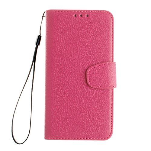 Samsung Mobiltelefon case Magnetisch PU-Leder Geldbörse Flip Wallet Cover in Book Style Stand Case für Samsung Galaxy J1 ACE Braun Rose rot