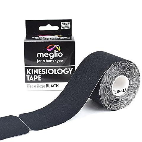 Meglio vorgeschnittene Kinesiologie Tape 5cm x 5m Rolle - Sport-Tape - 100% Baumwolle