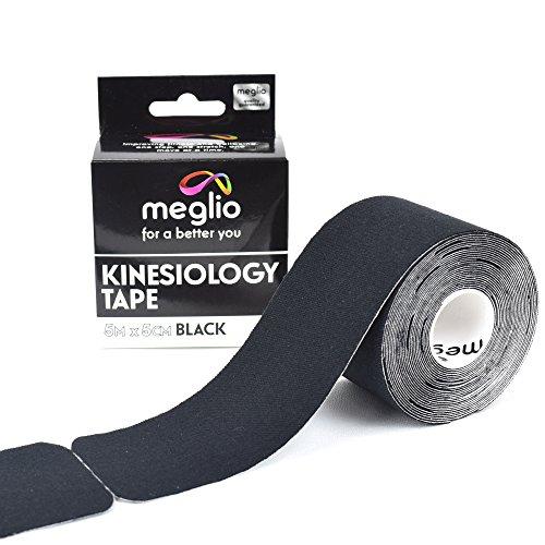 Meglio Tape de kinesiología / vendaje neuromuscular PRE-CORTADO, para