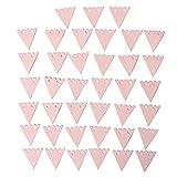 4 Stück DIY Mini Girlande Wimpelgirlande 2 m mit 40 Papierwimpeln zum selber Basteln und Beschriften weiß rosa Schnur und Pastellfarbene Fähnchen Vergleich