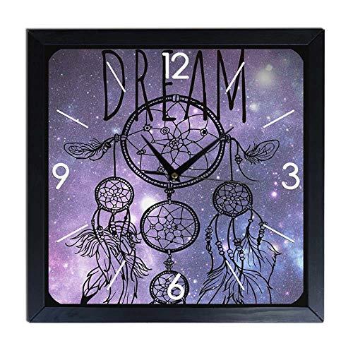 Reloj de pared de madera atrapasueños Dream
