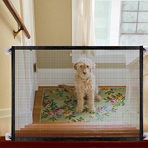 Jennifer Scott Hunde Treppen Sicherheitstür Tor Zaun Schutzgitter 180x72cm Magic Gate für Hunde Hundr Baby Pet Mesh Magic Gate Treppe Tragbar -