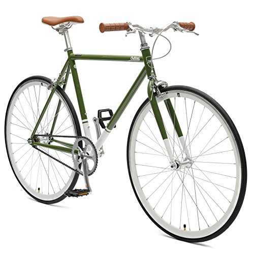 Critical Cycles Harper Single-Speed Fixed-Gear Urban Commuter Bike, Salbei Grün, 57 cm/Large