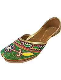 Step n Style Zapatillas Flat Mujer Sandalias Kolhapuri chappal Khussa Zapatos Indian jutis AVxsZt