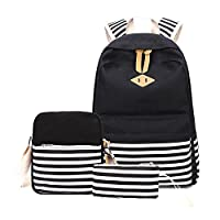 School Bag Backpack Casual Daypack Canvas Three-Piece Bag Set for Travel Student molre-yan