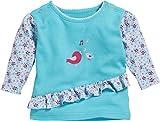 Schnizler Baby-Mädchen Langarmshirt Sweatshirt Vögelchen, Türkis (Türkis 15), 80