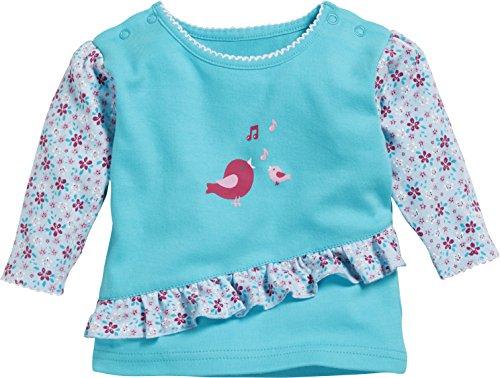 Schnizler Baby-Mädchen Langarmshirt Sweatshirt Vögelchen, (Türkis 15), 68