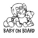 Auto Styling Aufkleber'Baby an Bord Auto Aufkleber Vinyl Aufkleber Dekoration Film Aufkleber DIY Auto Tuning Teile (Schwarz)