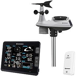 D-max Professionnel WiFi Centre Météo 6en 1Station météo (Température, humidité, Vent, Pression de l'air, la Pluie, Rayons UV)