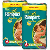 Pampers Baby Dry Taille 47–18kg Duo Pack (2x 58pièces) 116couches