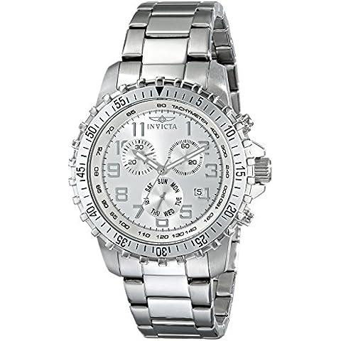 Invicta 6620 Orologio da Polso, Display Display Cronografo, Uomo, Bracciale Acciaio Inox, Argento