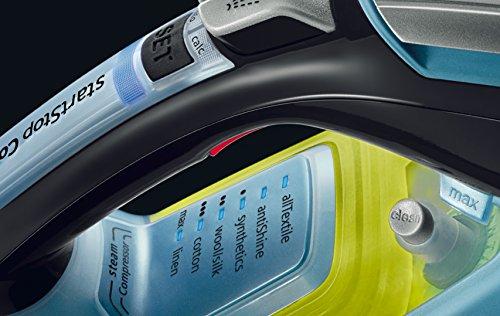 Siemens TSI803210 - Plancha de inyección, 3200 W, vapor 65 g/min, color azul y negro