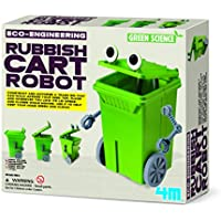 Price comparsion for Construct Your Own Rubbish Bin Cart Robot - Simple To Create Set - Number One Educational - Educational Science Present Gift Ideal For Christmas Xmas Stocking Fillers Age 8+ Girls Boys Kids Children