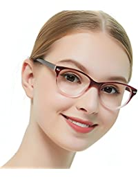 1804f96b2b2 OCCI CHIARI Rectangle Stylish Eyewear Frame Non-prescription Eyeglasses  With Clear Lenses Gifts for Women