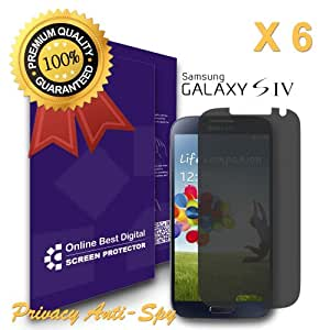 OBiDi - Samsung Galaxy S4 Screen Protector, Anti-Spy / Privacy - OBD Retail Packaging (Pack of 6)