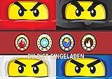 Lego Ninjago Einladungskarten 12er Set inkl. 12 Umschläge N26