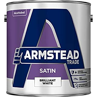 Armstead Trade Satin Finish Paint Brilliant White 2.5 litres