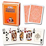 Modiano Carte da gioco Poker Texas Hold' em 100% plastica, 2 angoli, jumbo Index
