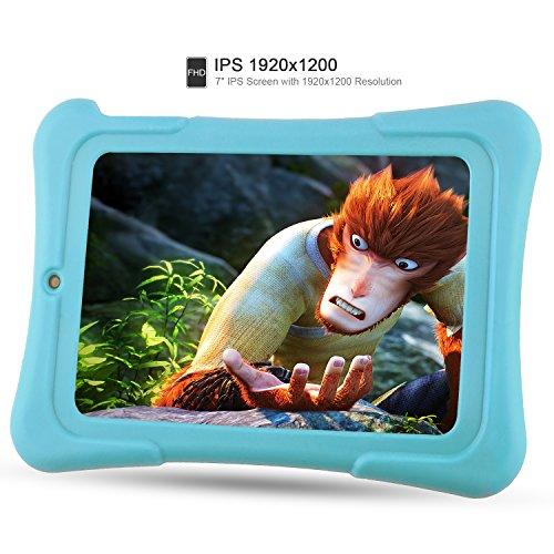 Alldaymall-Bambini-Tablet-7-pollici-16GB-IPS-FHD-1920x1200-Processore-64-Bit-Quad-Core-RAM-1GB-Android-51-Wi-Fi-Blu-Custodia-Protettiva-Antiurto-2017-Tutte-Nuove