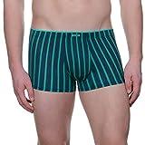 bruno banani Herren Shorts Jail, Grün (petrolgrün/Jade Stripes 2315), Large