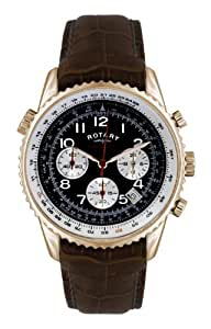 Rotary Men's Quartz Watch Aquaspeed GS00118/19 with Leather Strap