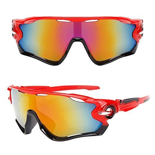 Gafas de Bicicleta/gafas de montar, ASHOP Gafas de sol de ciclismo Gafas de bicicleta Gafas de sol polarizadas (J)